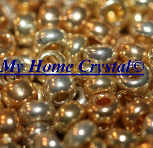 "Rocailles 2,6mm ""metallfarben mix fein gold"""