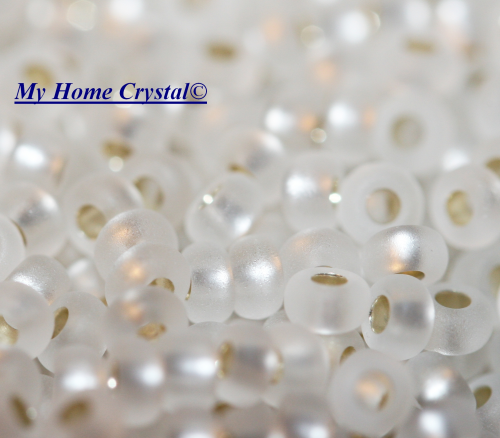 "Rocailles 2,6mm ""polarismatt crystal"""