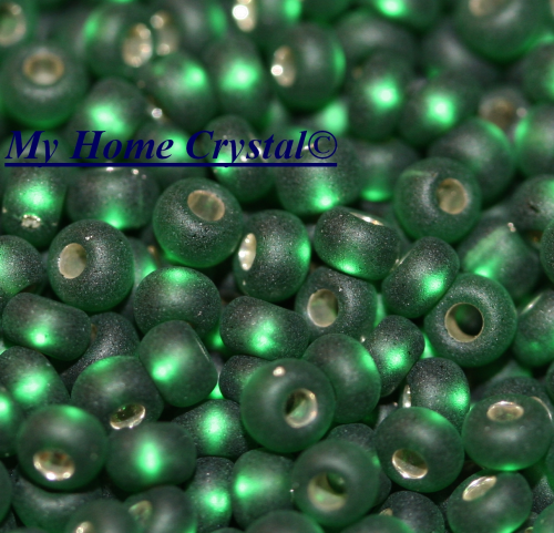 "Rocailles 2,6mm ""polarismatt emerald"""