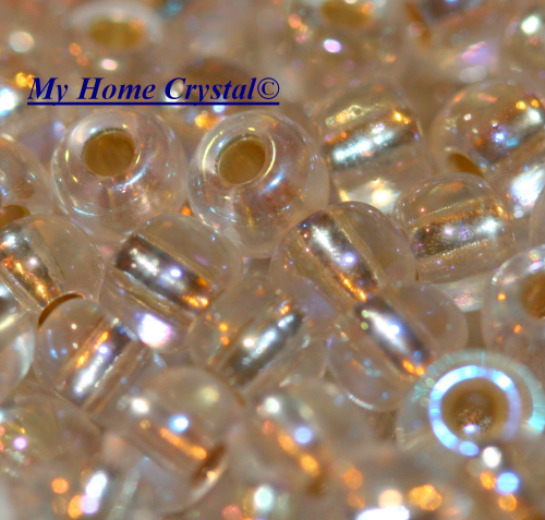"Rocailles 4,5mm ""crystal ab"""