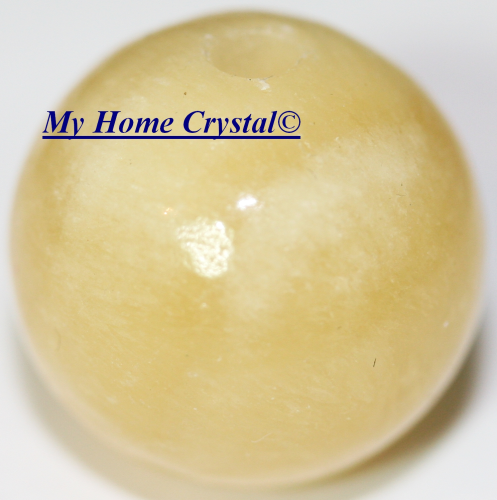 Perle Calcite orange 20mm