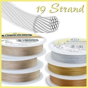 "Schmuckdraht - 19 Strand 0,25mm, Nylon Coated ""Best Quality"""