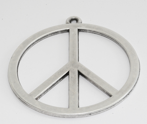 Metallanhaenger Peace 55mm mit Oese