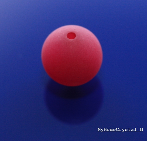 Polarisperle fuchsia matt 10mm