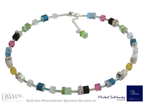 Collier Cube Multicolor