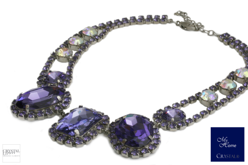 Glamour Collier Purple Velvet / Crystal AB