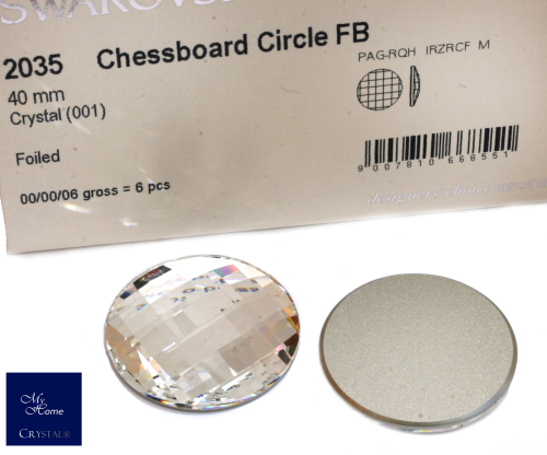 2035 Chessboard Circle FB, 40mm Crystal