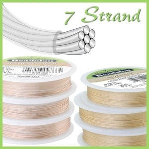 Schmuckdraht - 7 Strand /Brins, NYLON COATED
