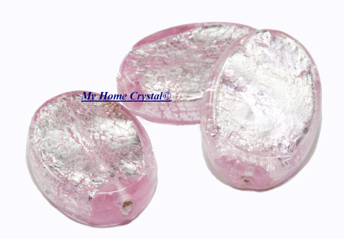 Perle oval rose/925Sterling