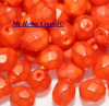 Glasschliffperle opal matt orange 4mm