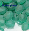 Glasschliffperle matt emerald 6mm