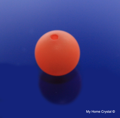 Polarisperle orange matt 14mm